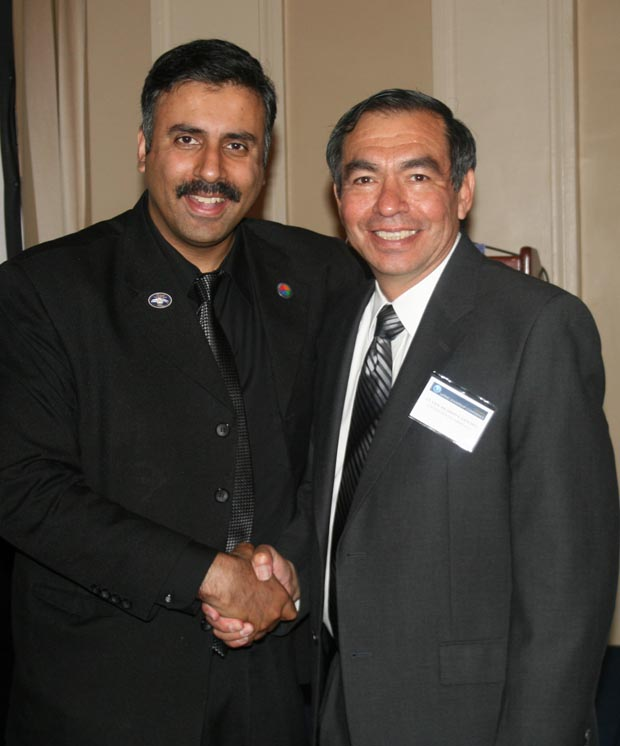 Dr.Abbey with LT Gen Ricardo S.Sanchez ,US Army,(Ret)
