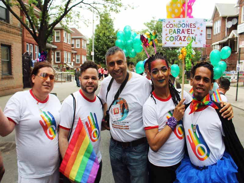Dr.Abbey with Latin LGBTQ Youths