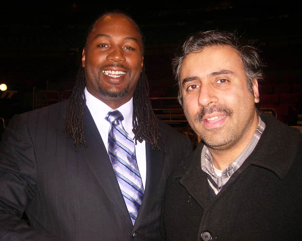 Dr.Abbey with Lennox Lewis Former  World Heavyweight Boxing Champion