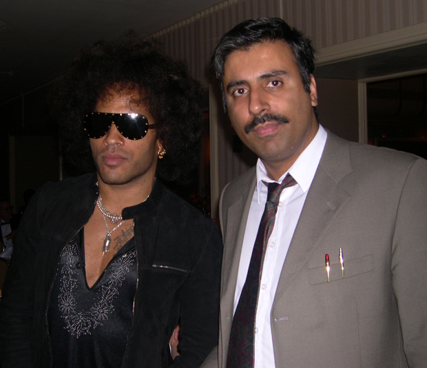 Dr.Abbey with Lenny kravitz