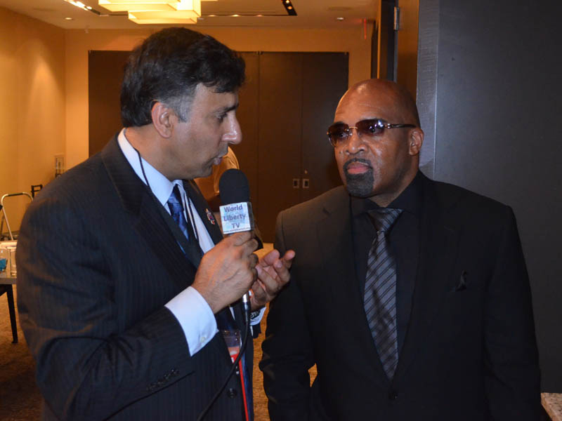 Dr.Abbey with Leonard Ellerbe , manager of Floyd Mayweather