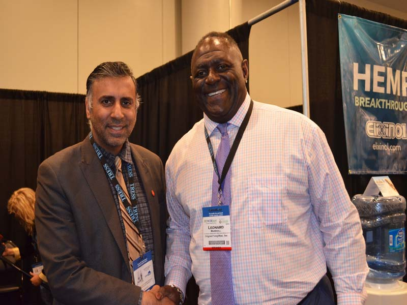 Dr.Abbey with Leonard Marshall, 2 time Super Bowl Champion