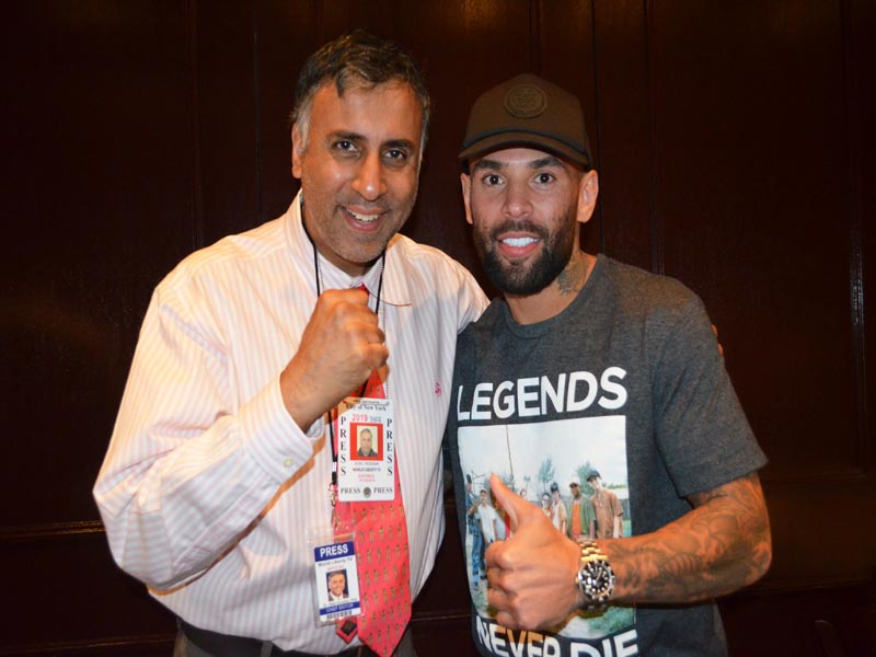 Dr.Abbey with Luis Collazo Former World Welterwight Boxing Champion