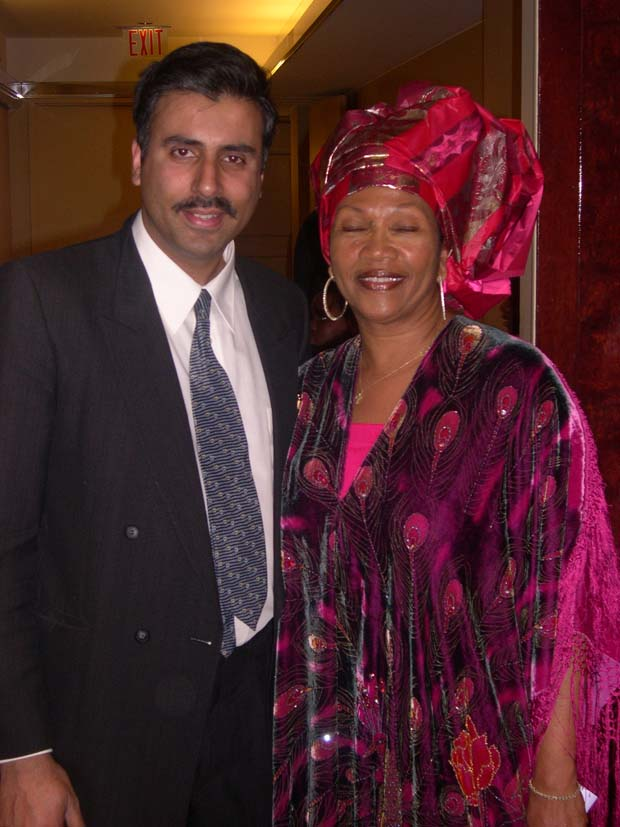 Dr.Abbey with  Marcia l Griffiths Entertainer from Jamaica