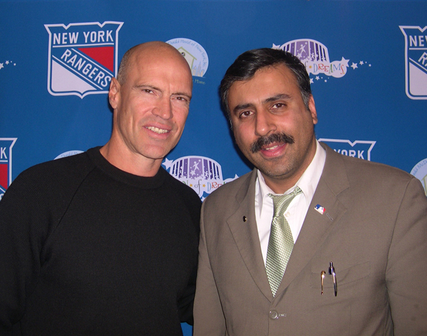 Dr.Abbey with Mark Messier,Captain of The NY Rangers