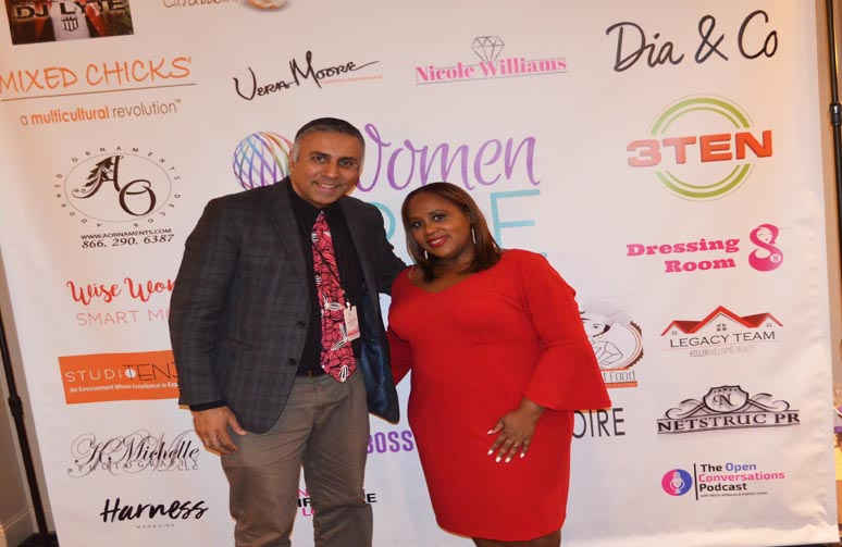 Dr.Abbey with Marsha Guerrier Founder & President Women on The Rise Inc