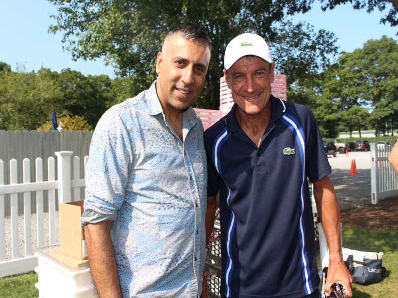 Dr.Abbey with Mats Wilander Pro Tennis Player