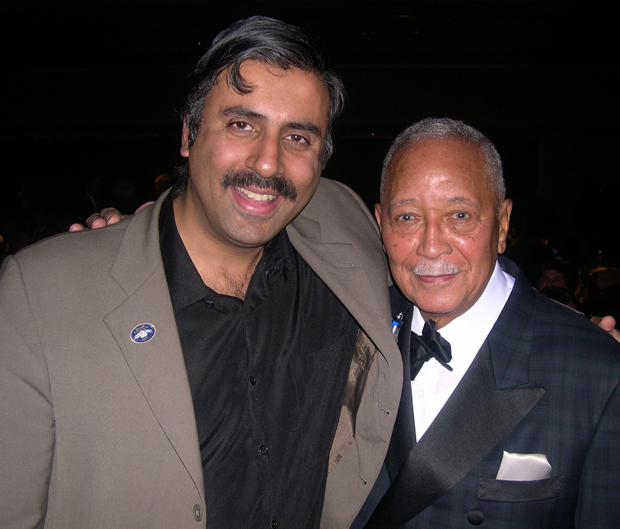 Dr.Abbey with Mayor David Dinkins