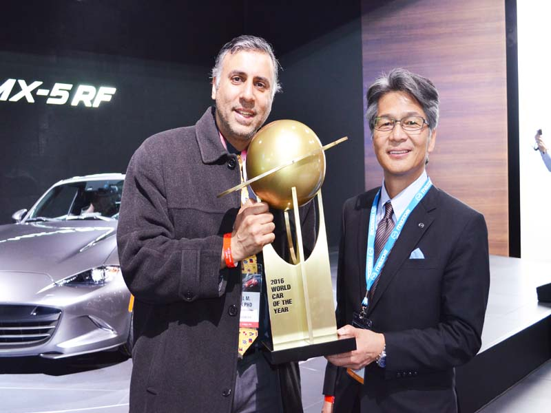 Dr.Abbey with Mazda Rep Winner World Car of 2016