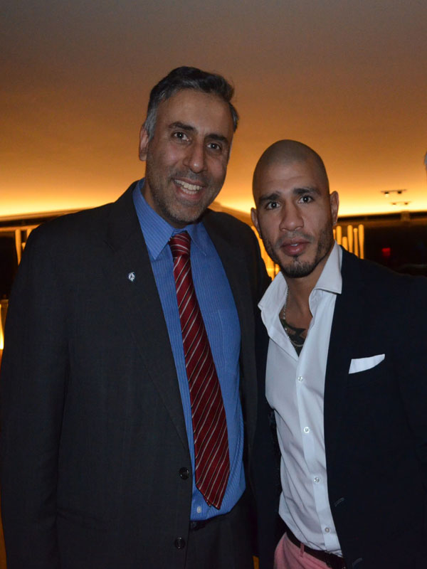 Dr.Abbey with Miguel Cotto