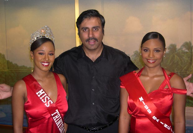 Dr.Abbey with Miss Trindad & Tobago 2005 Contestants