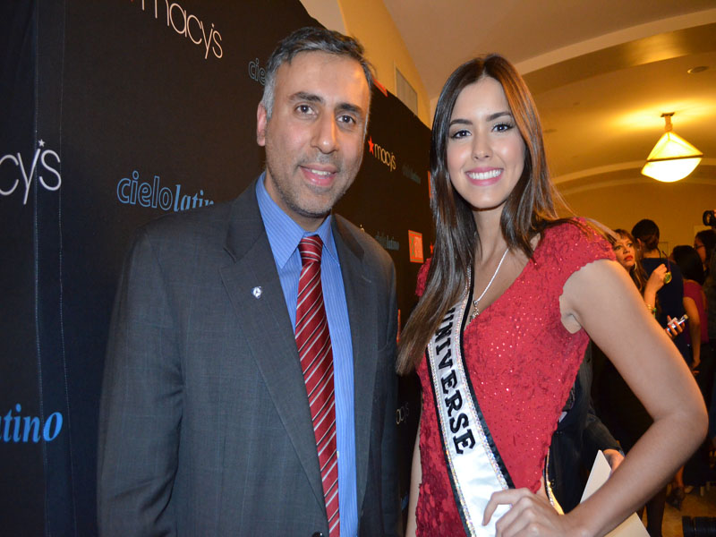 Dr.Abbey with Miss Universe 2015 Paulina Vega of Colombia