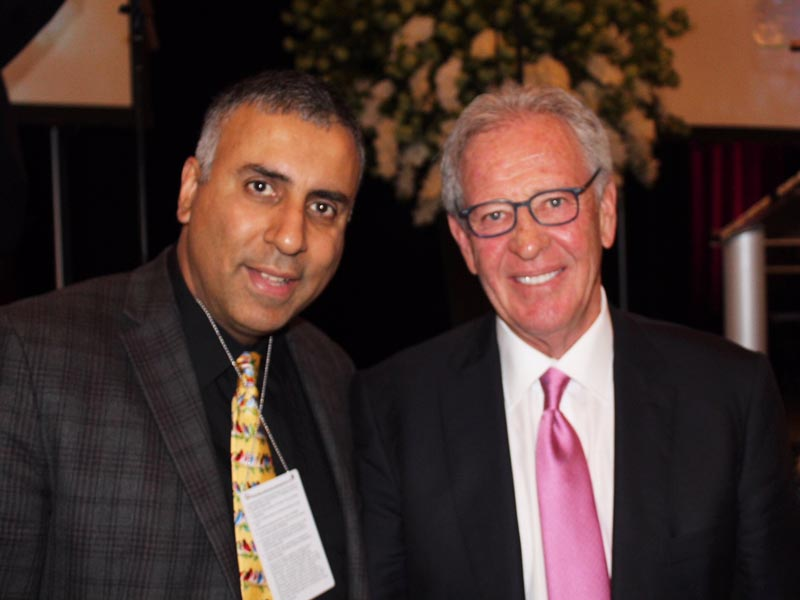 Dr.Abbey with Morris Goldfarb Chairman CEO GIII Apparel Group Ltd