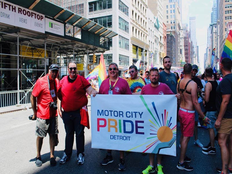 Dr.Abbey with Motor City Detroit Pride members