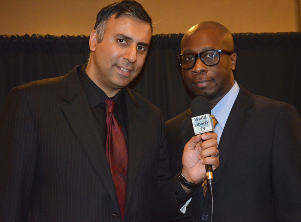 Dr.Abbey with Mr Paris Fawundu, Publisher  Floss magazine