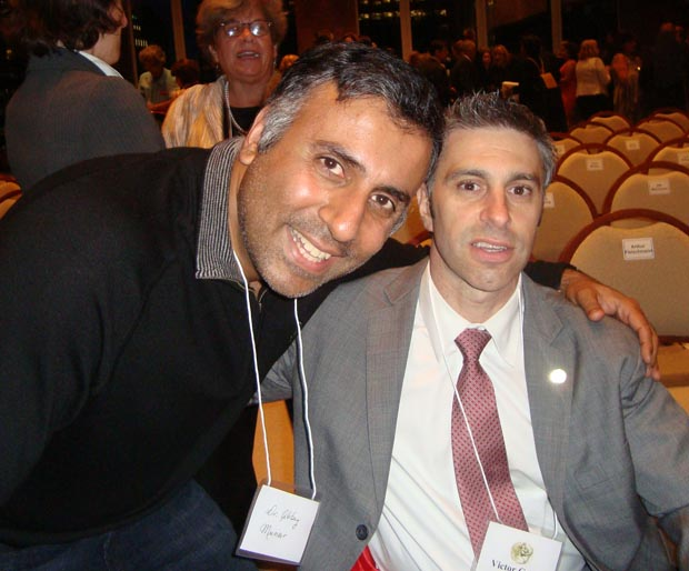 Dr.Abbey with NYC Commissioner for People With Disabilities Victor Calise