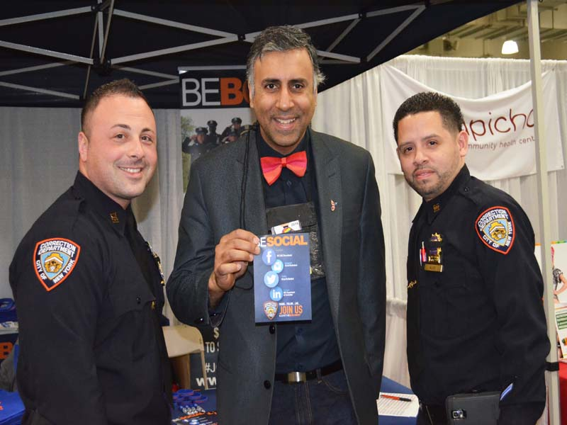 Dr.Abbey with NYC Correction Depts Gay Officers