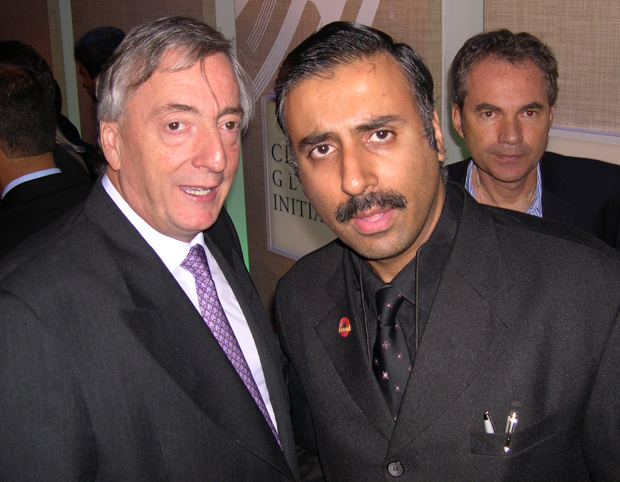 Dr.Abbey with Nestor Kirchner,President of Argentine