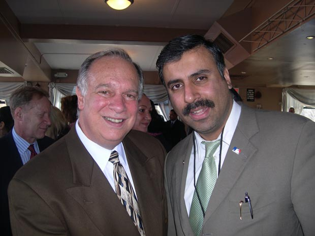 Dr.Abbey with Nick Lugo President ofNew York City Hispanic Chamber of Commerce