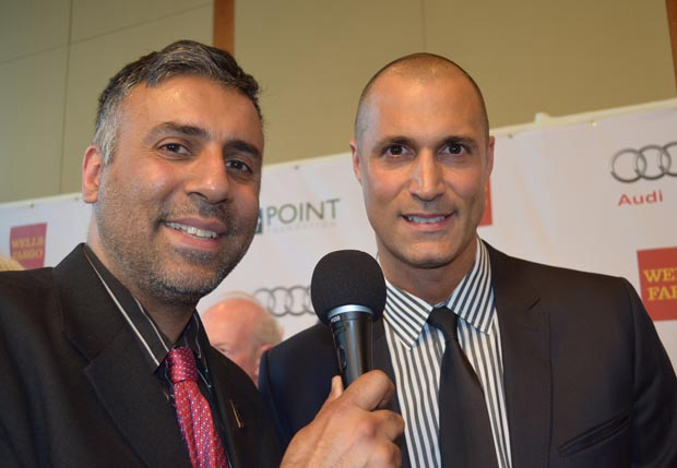Dr.Abbey with Nigel Barker host of The Face