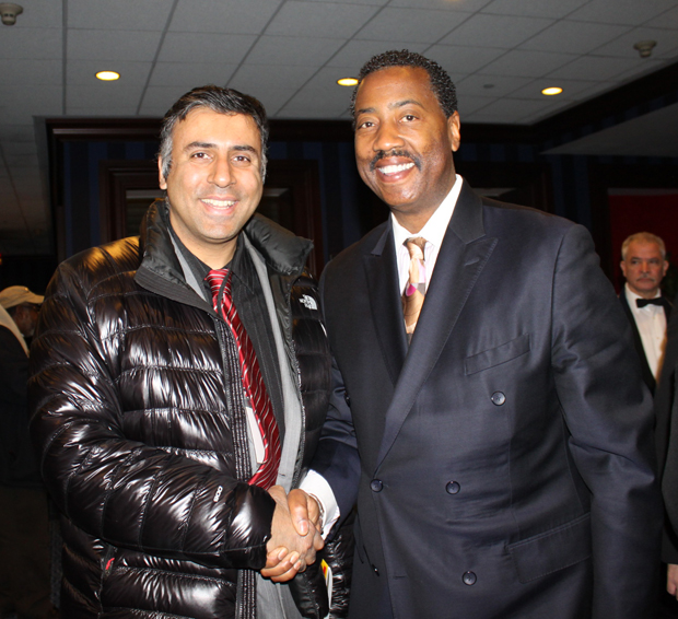 Dr.Abbey with Norman Seabrook, President of COBA