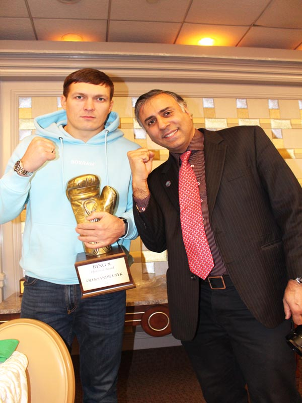 Dr.Abbey with Oleksandr Usyk Unidusputed Cruiserweight World Boxing Champion
