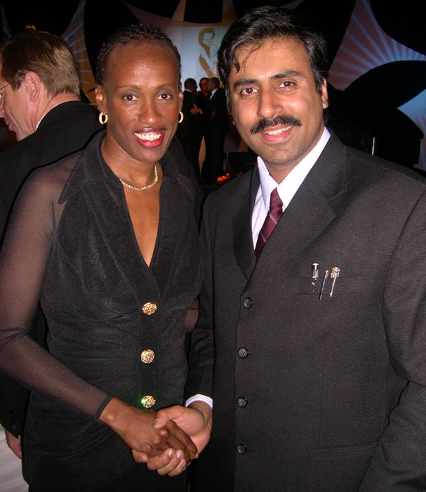 Dr.Abbey with Olympian Jackie Joyner kersee