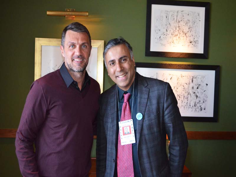 Dr.Abbey with Paolo Maldini one of the Greatest Soccer player of all time