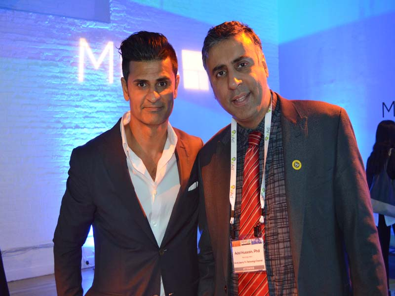 Dr.Abbey with Paran Johar Founder MMS