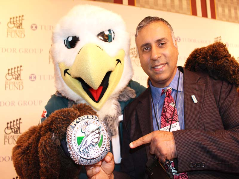 Dr.Abbey with Philadelphia Eagles Mascot