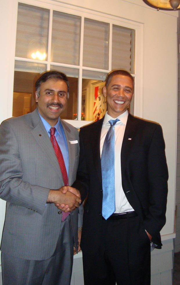 Dr.Abbey with President Obama Look alike