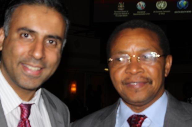 Dr.Abbey with President of Tanzania Jakaya Kikwete