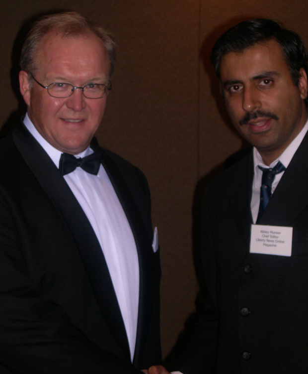 Dr.Abbey with Prime Minister Sweden Goran Persson