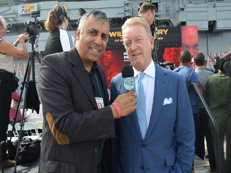 Dr.Abbey with Promoter Frank Warren