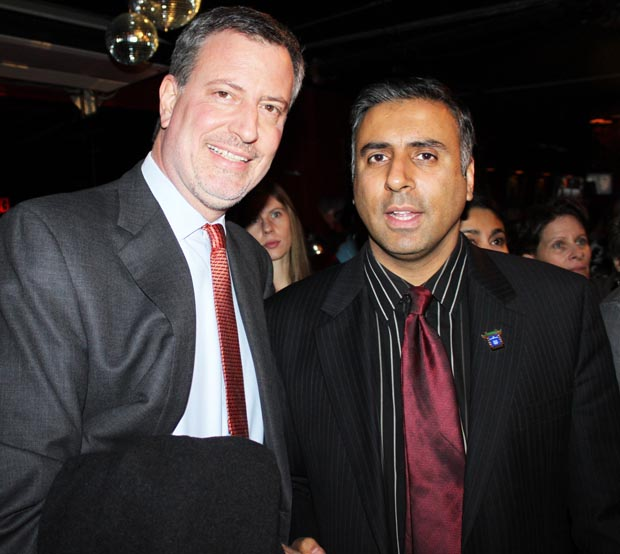 Dr.Abbey with Public Advocate Bill DeBlasio