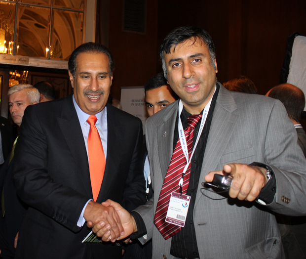Dr.Abbey with Qatari Prime Minister Sheikh Hamad bin Jassim bin Jabor Al- Thani  2010