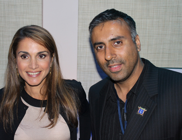 Dr. Abbey with Queen Rania of Jordan