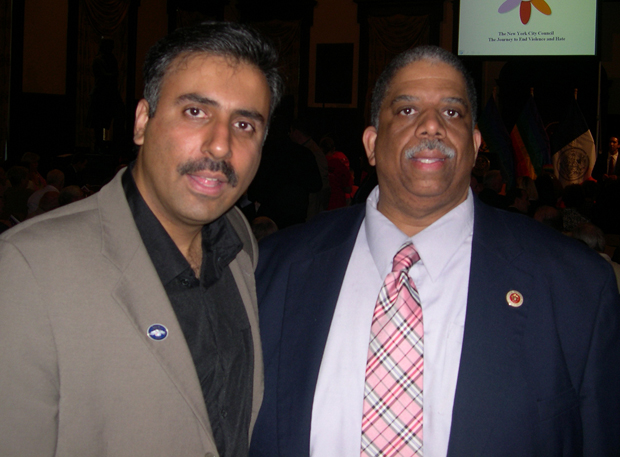 Dr.Abbey with Queens Deputy Boro President Leroy Comerie