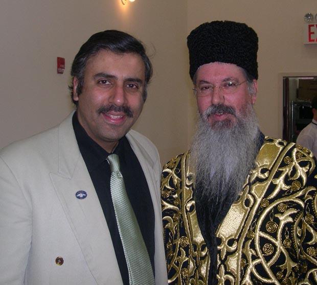 Dr.Abbey with Rabbi Itzhak Yehosua of Bukharian Jewish Community