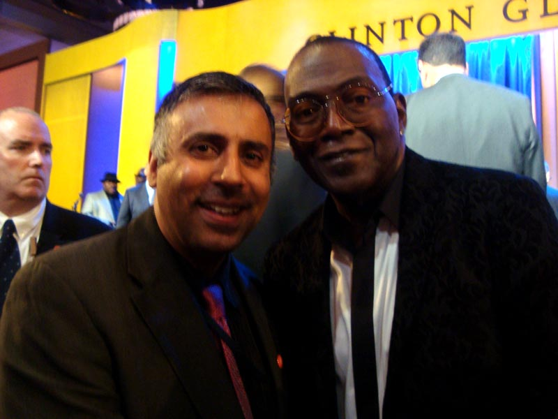 Dr.Abbey with Randy Jackson Record Producer