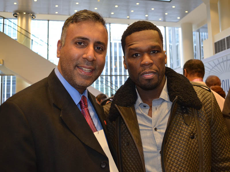 Dr.Abbey with Rapper & Businessam 50 Cent