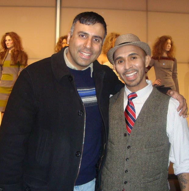 Dr.Abbey with Raul Peñaranda fashion Designer from Venezula