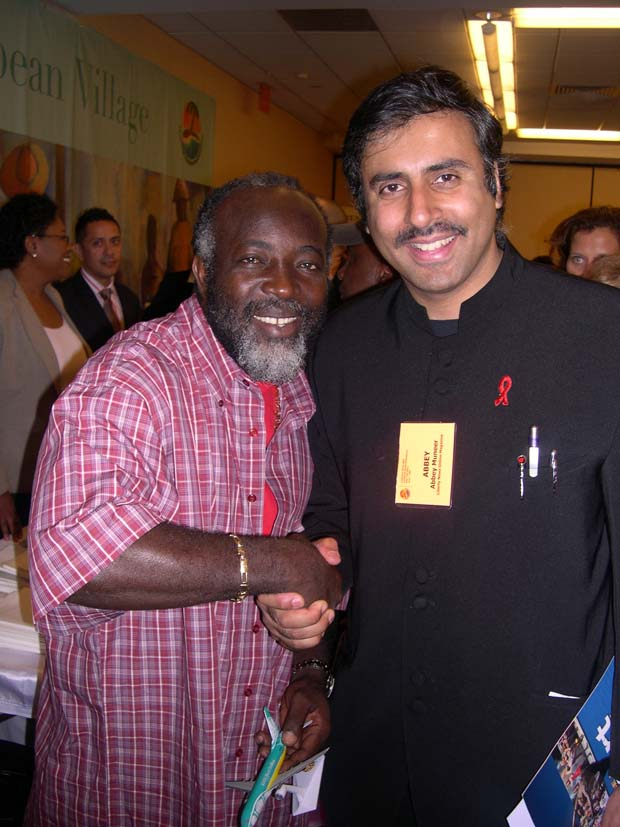 Dr.Abbey with  Reggae Singing Sensation Freddie Mcgregor