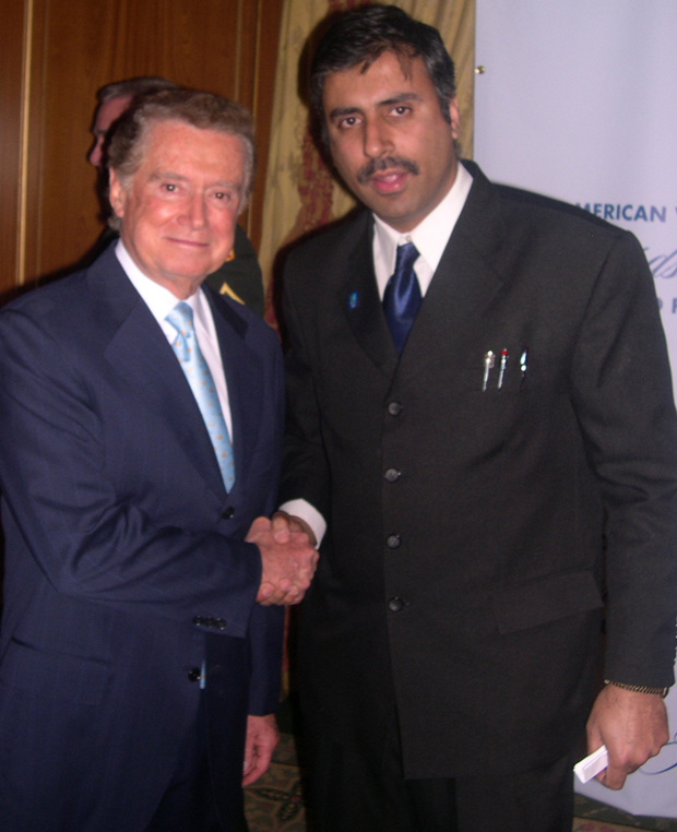Dr.Abbey with Regis Philbin media personality