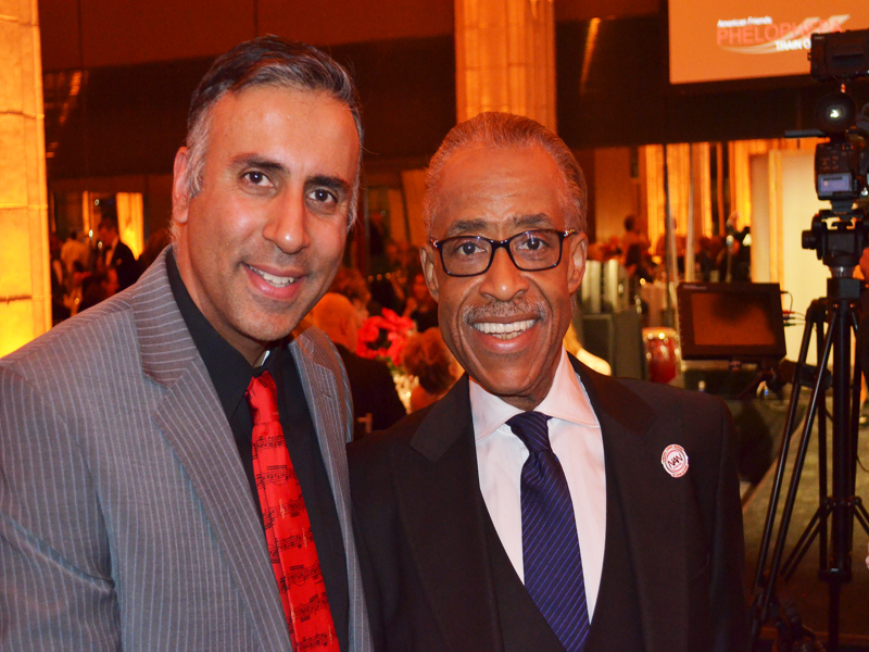 Dr.Abbey with Rev AL Sharpton Founder NAN