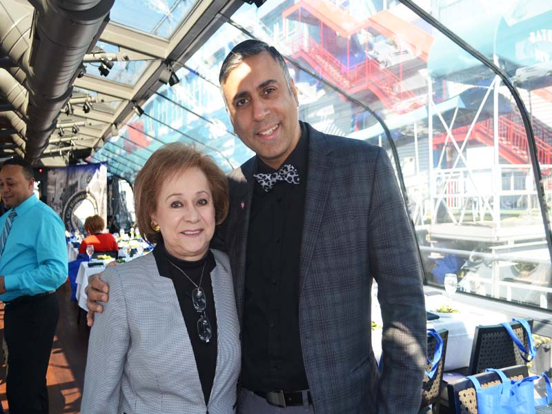 Dr.Abbey with Rita DiMartino Trustee Member of CUNY