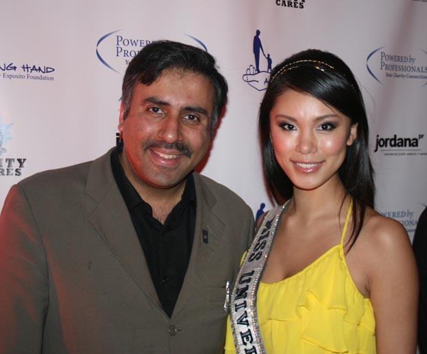Dr.Abbey  with  Riyo Mori,Miss Universe 07