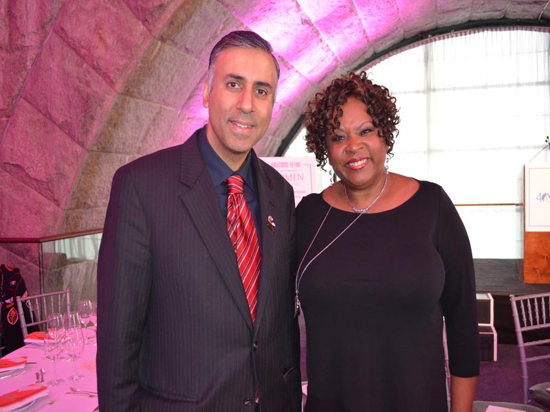 Dr.Abbey with Robin Quivers Radio Personality & Host of Event