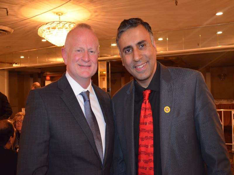 Dr.Abbey with Rod Townsend Treasurer Stonewall Dem Club of NYC