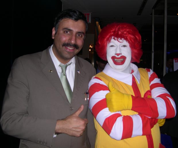 Dr.Abbey with Ronald Mcdonald